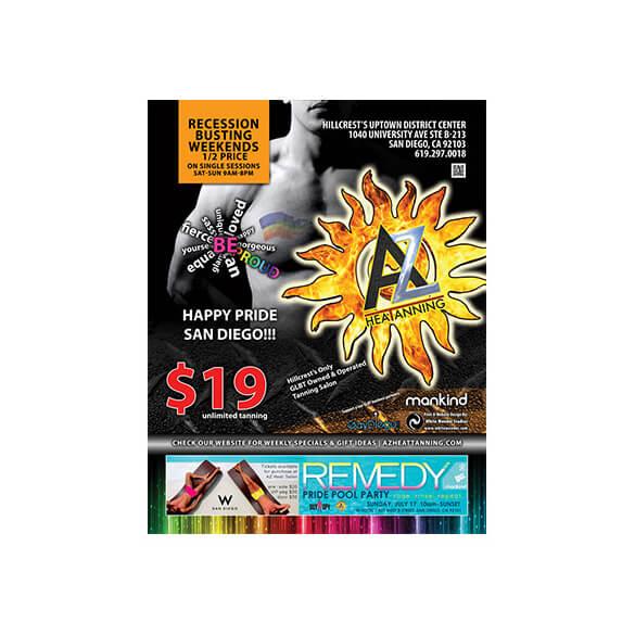 AZ Heat Tanning – Magazine Ad – Rage Monthly July 2011