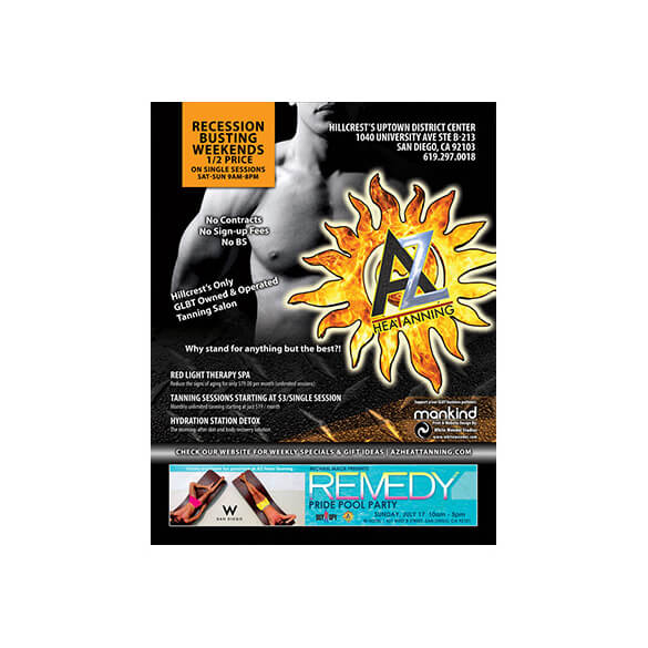 AZ Heat Tanning – Magazine Ad – Rage Monthly June 2011
