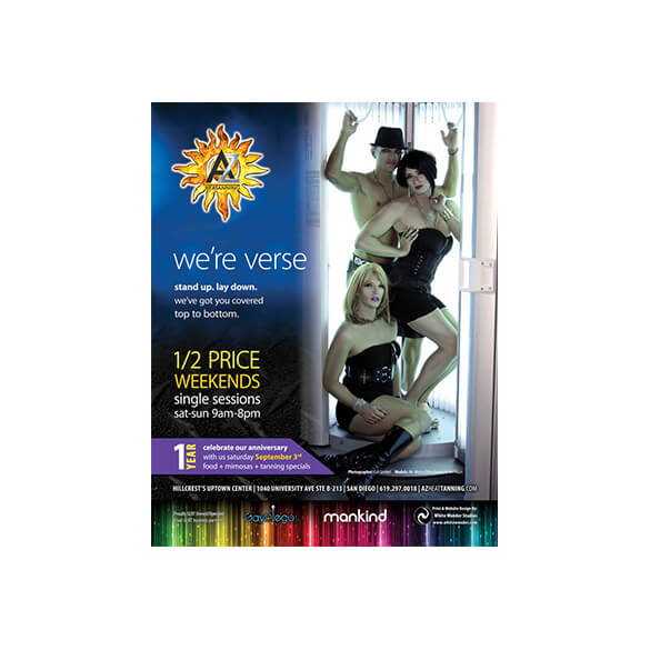 AZ Heat Tanning – Magazine Ad – Rage Monthly September 2011