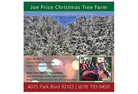 Joe Price Christmas Trees – Full Page Magazine Ad