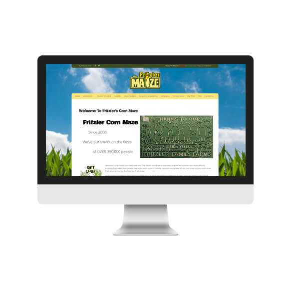 Fritzler Corn Maze (Website Redesign)