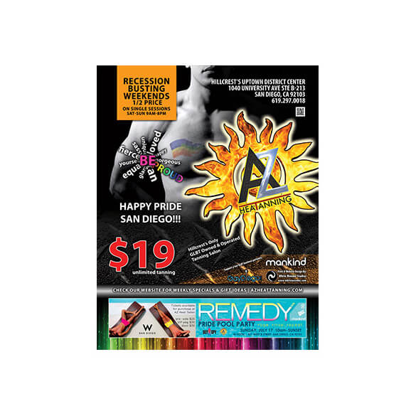 AZ Heat Tanning – Magazine Ad – Rage Monthly July 2011