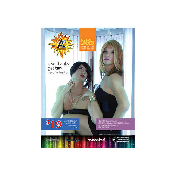 AZ Heat Tanning – Magazine Ad – Rage Monthly November 2011