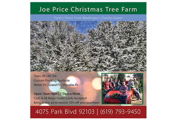 Joe Price Christmas Trees – Full Page Magazine Ad
