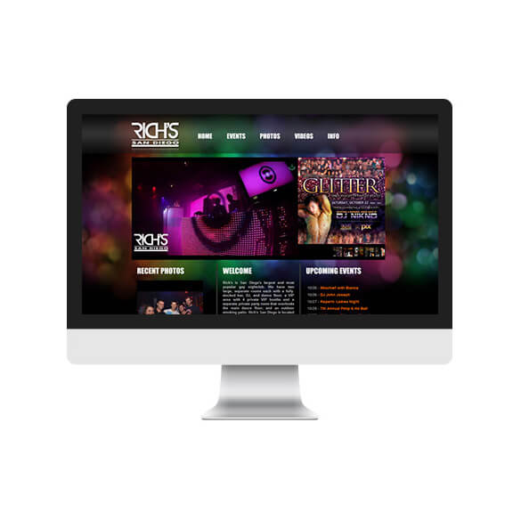 Rich's San Diego - Website Design