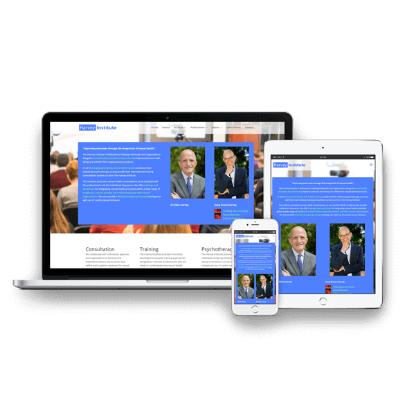 San Diego Web Design - The Harvey Institute Website Design